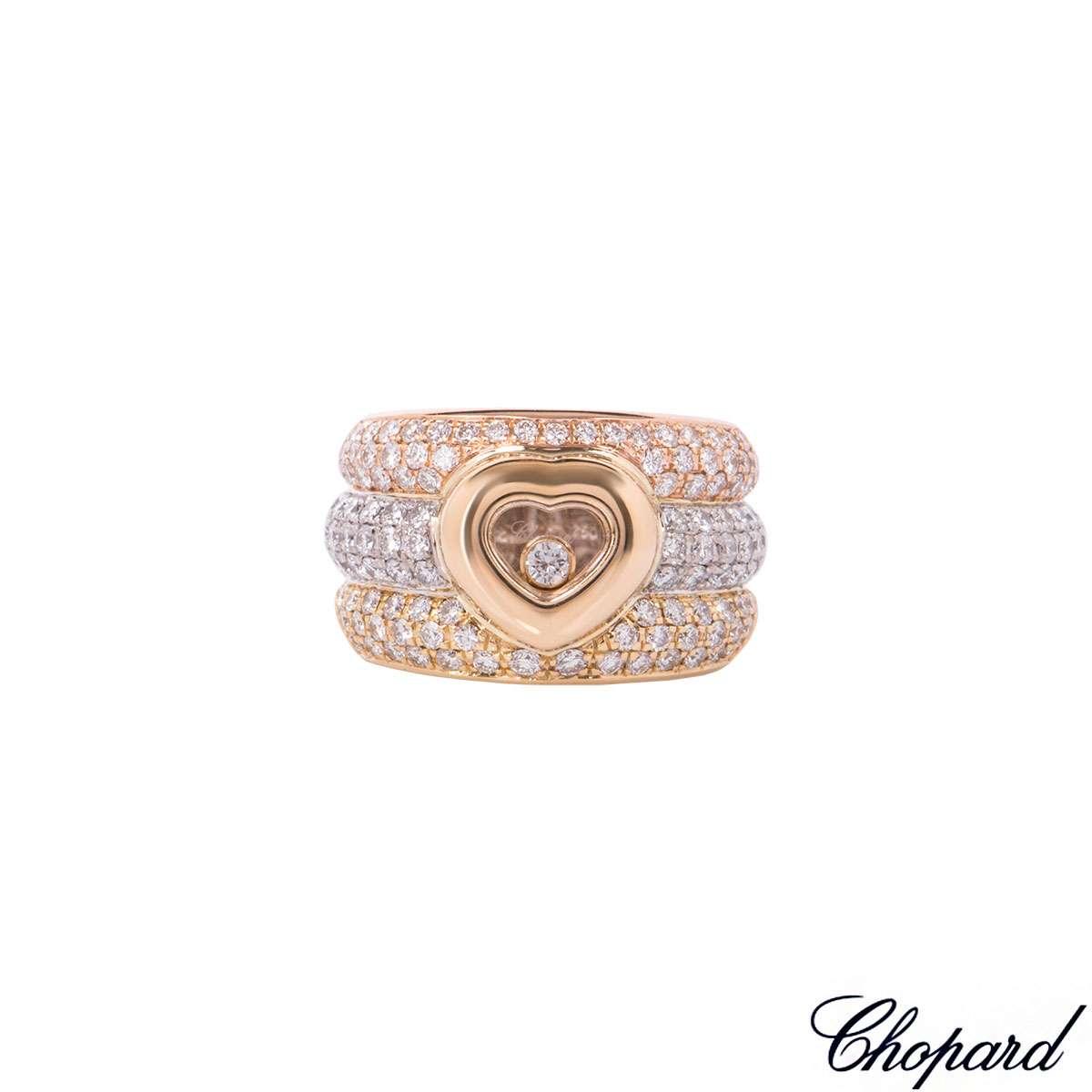 Chopard Tri-Colour Gold Happy Diamonds Ring 82/2271-20